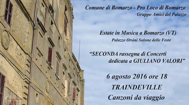 """Musica a Palazzo Orsini, c'è il concerto """"Traindeville. Canzoni da viaggio"""""""