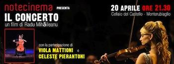 """A Monterubiaglio, proiezione del film """"Il Concerto"""" di Radu Mihaileanu"""