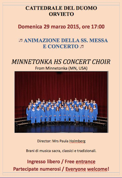 Minnetonka Hs Concert Choir in Duomo