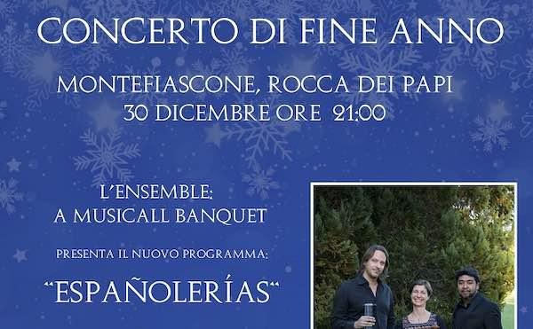 """Alla Rocca dei Papi concerto di fine anno dell'Ensemble """"A Musicall Banquet"""""""