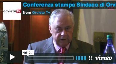 Conferenza stampa del Sindaco Toni Concina sulla difficile situazione economica e politica del Comune di Orvieto