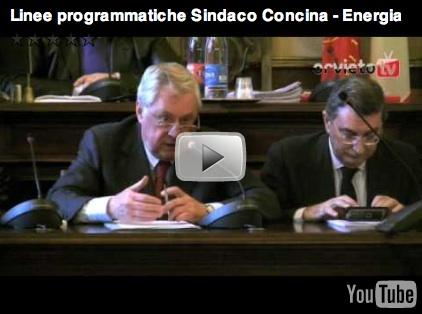 Il Sindaco Concina illustra le sue linee programmatiche - Energia (Prima Parte)