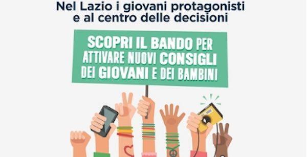 Consigli dei Giovani e dei Bambini, nuovo bando dalla Regione Lazio