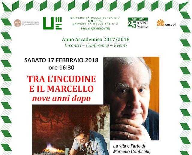 """""""Tra l'Incudine e il Marcello - Nove anni dopo"""". L'Unitre ricorda Marcello Conticelli"""