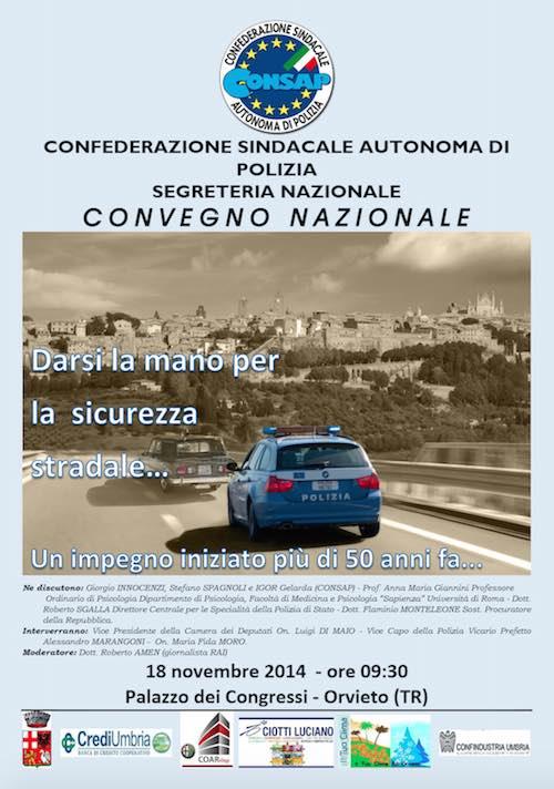 """Convegno nazionale """"Darsi la mano per la sicurezza stradale. Un impegno iniziato più di 50 anni fa"""""""