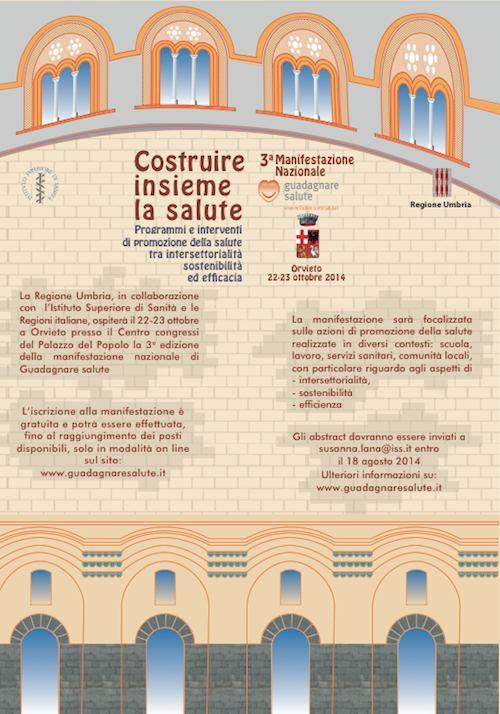 """A Orvieto la terza manifestazione nazionale """"Guadagnare salute"""""""