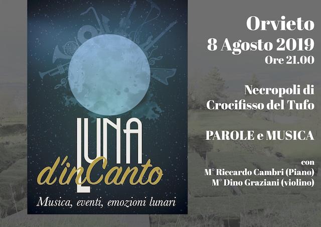 Il duo Cambri - Graziani in concerto alla Necropoli del Crocefisso del Tufo