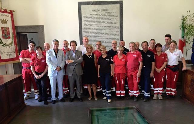 Benedetto il Fiat Doblò della Croce Rossa Italiana di Bagnoregio e Lubriano