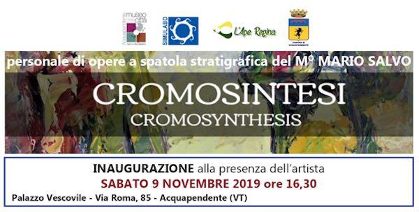 """Cromosintesi"". In mostra l'arte della spatola del Maestro Mario Salvo"