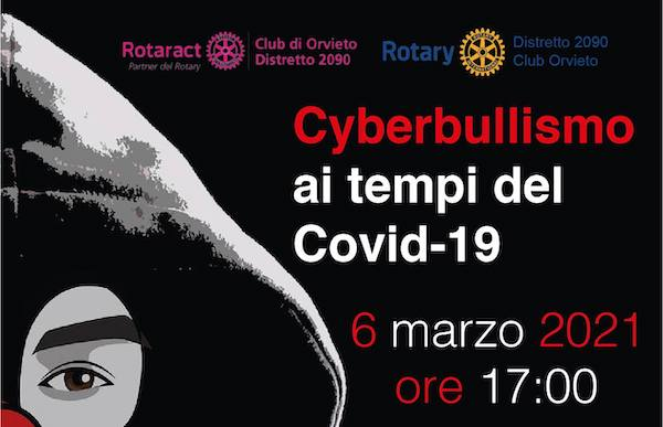 """""""Cyberbullismo ai tempi del Covid-19"""".  Online l'evento di Rotary e Rotaract Club Orvieto"""