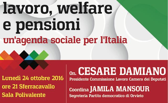 Lavoro, welfare e pensioni: incontro con l'onorevole Damiano per il Sì al referendum