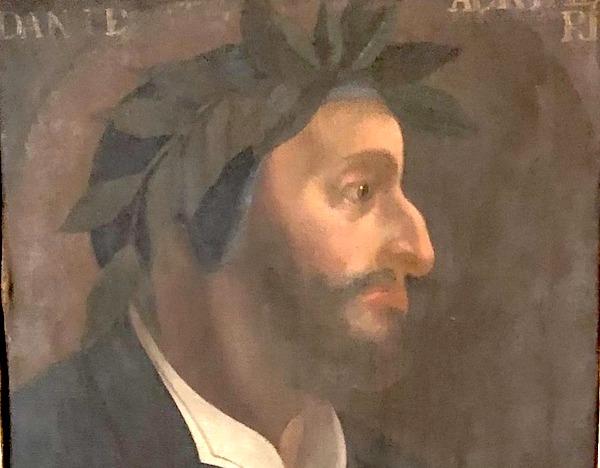 """Il dipinto del """"Dante barbuto"""" porta Orvieto sulle tracce del Sommo Poeta"""