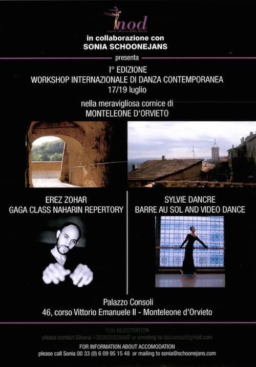 Tre giorni nel segno della danza contemporanea. Workshop, mostra e video