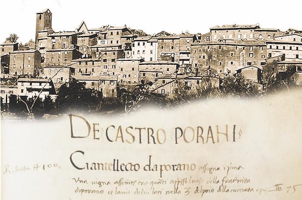 """Noemi Grilli firma """"De Castro Porani. Storia di un borgo dalle origini al Novecento"""""""