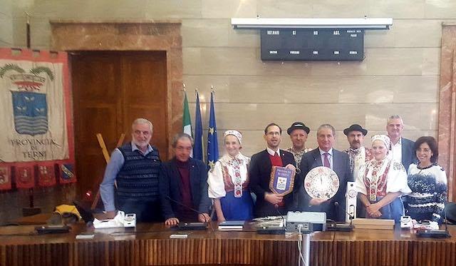 Dalla Slovacchia all'Umbria, ricevuta in Provincia una delegazione di Vajnory