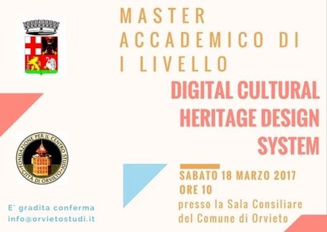 Presentazione del Master sul Design di Sistema del Patrimonio Culturale