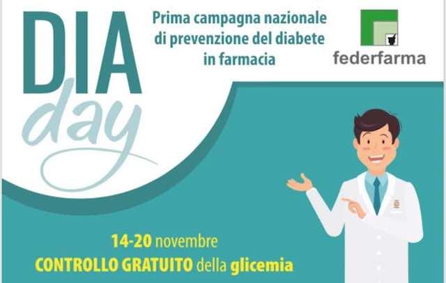 """""""DiaDay"""" per la prevenzione del diabete. Screening gratuito in farmacia"""
