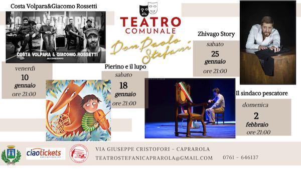 """Gennaio sul palco al Teatro Comunale """"Don Paolo Stefani"""""""