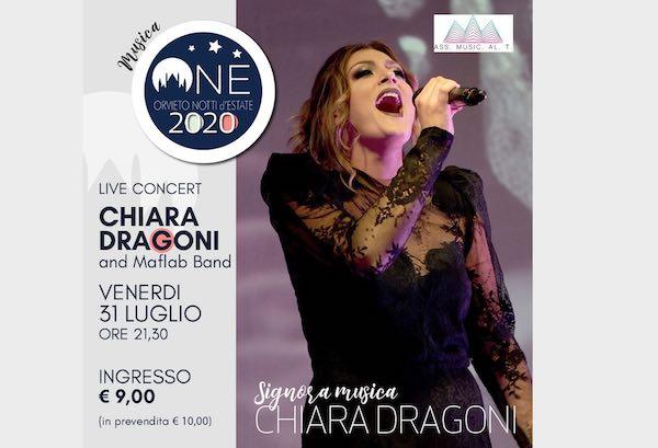"""Live concert di Chiara Dragoni and Maflab Band per """"ONE. Orvieto Notti d'Estate"""""""