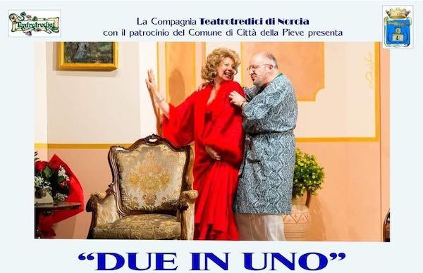 """""""Due in Uno"""" al Teatro degli Avvaloranti. Mano tesa verso Norcia"""