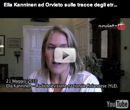Ella Kanninen ad Orvieto sulle tracce degli etruschi e di Mika Waltari