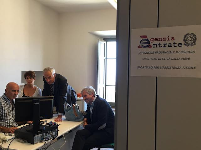 Nuovo ufficio per l'Agenzia delle Entrate a Palazzo della Corgna