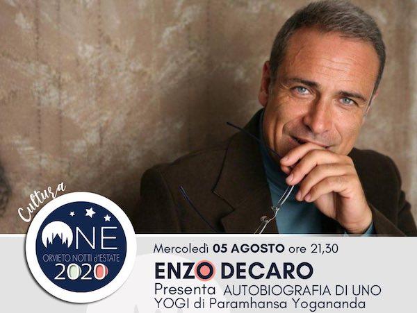 """Enzo Decaro presta la voce all'audiolibro """"Autobiografia di uno Yogi"""""""