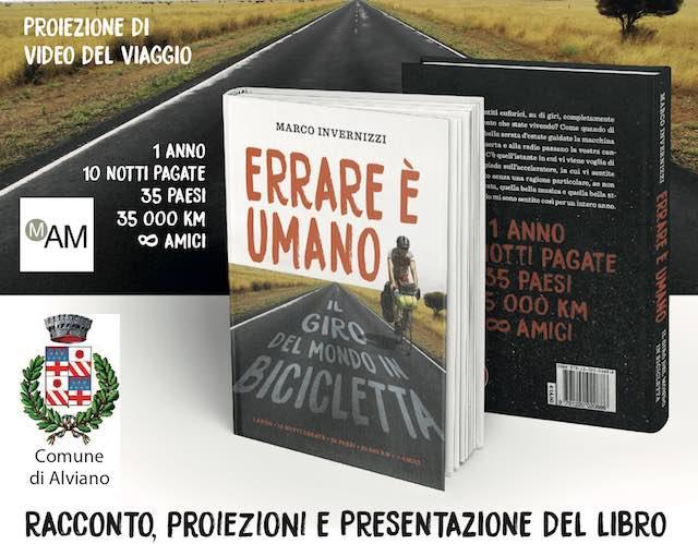 """Al Castello di Alviano Marco Invernizzi presenta """"Errare è umano. Il giro del mondo in bicicletta"""""""