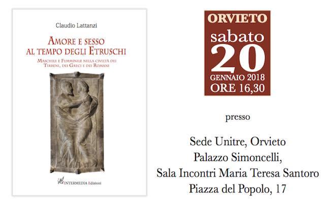 """All'Unitre Claudio Lattanzi presenta """"Amore e sesso al tempo degli Etruschi"""""""