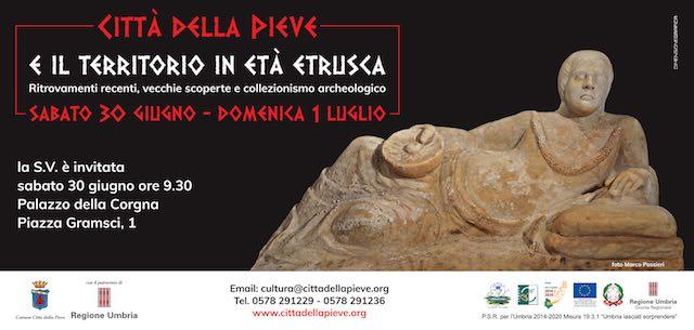 """Due giorni immersi nella storia con """"Città della Pieve e il territorio in Età Etrusca"""""""