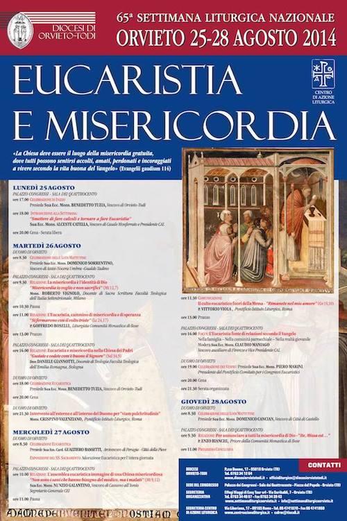 """Si celebra a Orvieto la Settimana liturgica nazionale """"Eucaristia e misericordia"""""""