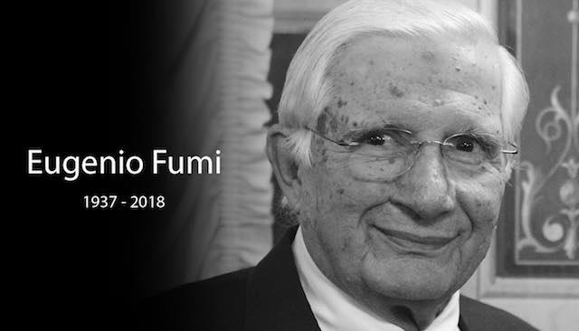"""Orvieto dice addio a Eugenio Fumi. Il sindaco: """"Un imprenditore credibile e competitivo"""""""
