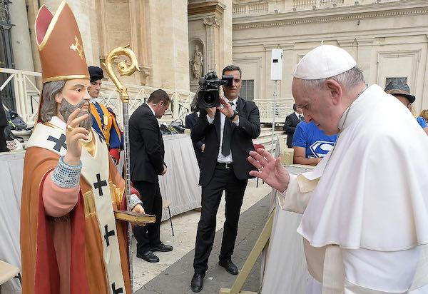 Ficulle in festa per Sant'Eumenio. Benedetta dal Papa la statua del Patrono