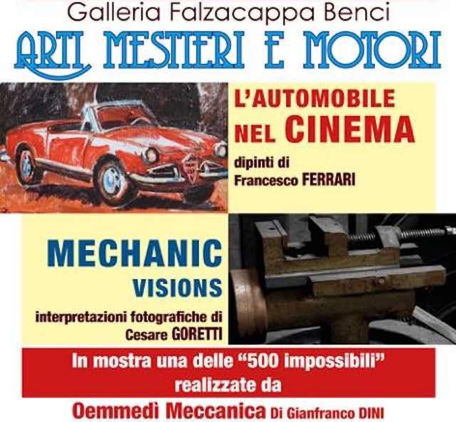 """Alla Galleria """"Falzacappa Benci"""" si celebra il 90esimo della Mille Miglia con la mostra """"Arti, mestieri e motori"""""""