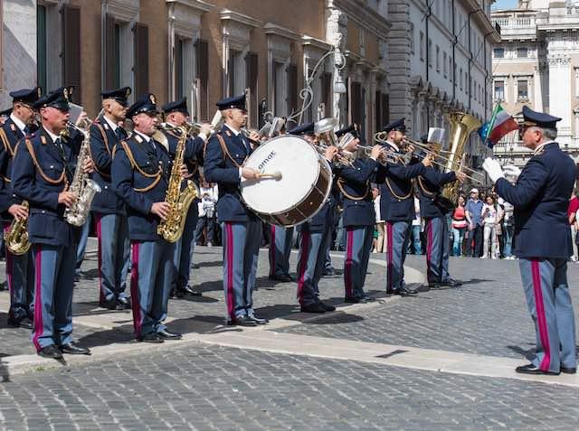 Concerto della Fanfara della Polizia di Stato a Civitella del Lago