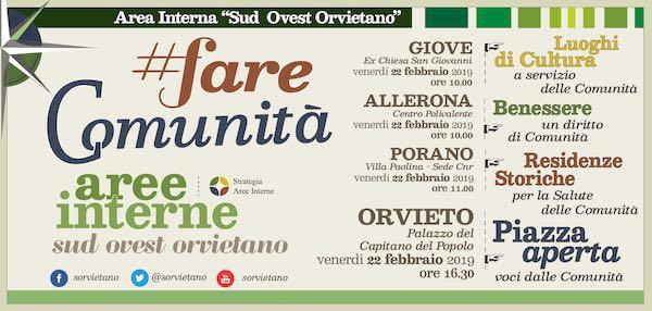 Giornata di partecipazione per conoscere la Strategia dell'Area Interna Sud-Ovest Orvietano
