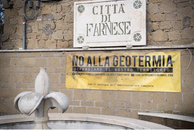 """""""No alla geotermia, difendiamo il nostro territorio"""""""