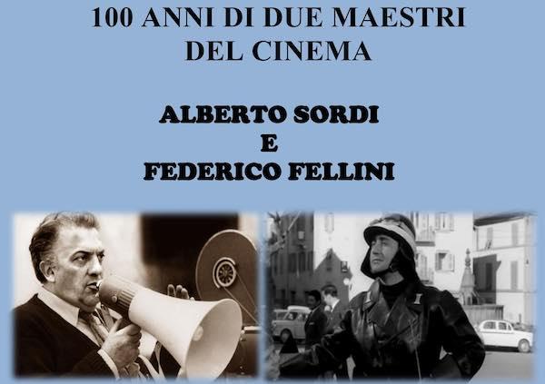 Alberto Sordi e Federico Fellini, 100 anni di due grandi maestri del cinema