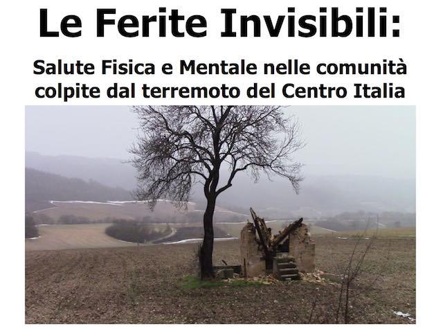"""""""Le ferite invisibili: salute fisica e mentale nelle comunità colpite dal terremoto del Centro Italia"""""""
