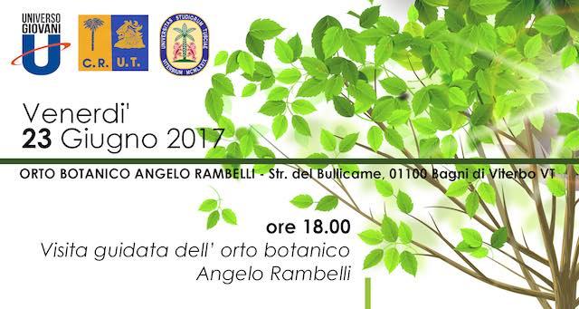 "Apertura serale all'Orto Botanico ""Angelo Rambelli"""