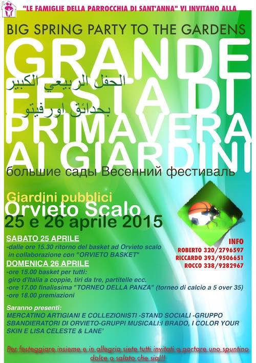 Grande Festa di Primavera ai Giardini di Orvieto Scalo