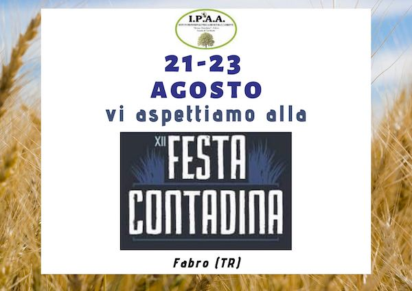 """L'Ipaa di Fabro alla XII edizione della """"Festa Contadina"""" con i laboratori Agri...children"""