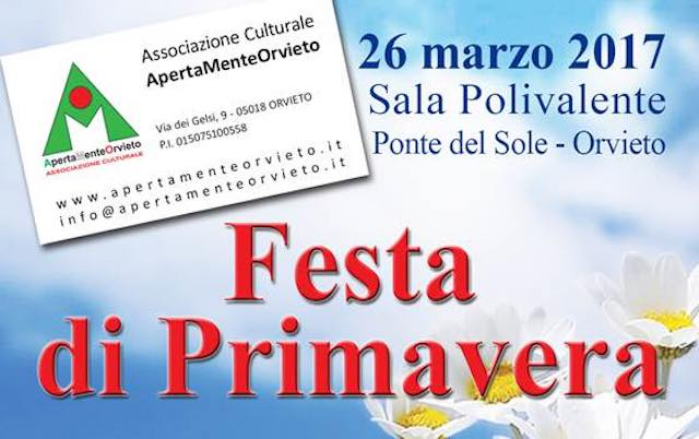 """""""Festa di Primavera"""" a Ponte del Sole con l'Associazione ApertaMente Orvieto"""