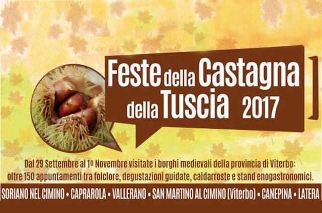 """Le """"Feste delle Castagne della Tuscia"""" fanno tredici, tutti gli appuntamenti"""