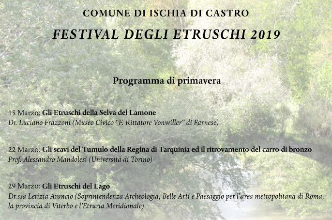 Cinque incontri per il primo Festival degli Etruschi