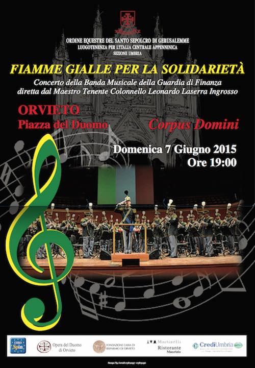 Fiamme Gialle al Concerto del Corpus Domini dell'Ordine Equestre del S.Sepolcro