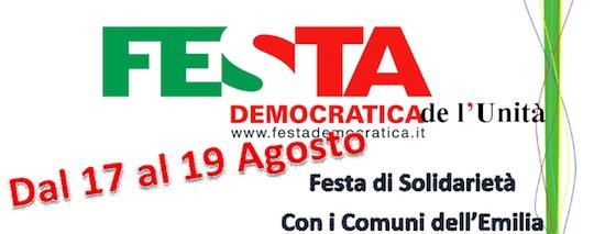 La Festa Democratica di Ficulle dedicata alla solidarietà con i Comuni dell'Emilia