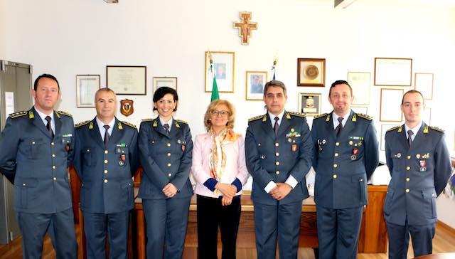 Il Prefetto Pagliuca in visita al Comando della Guardia di Finanza