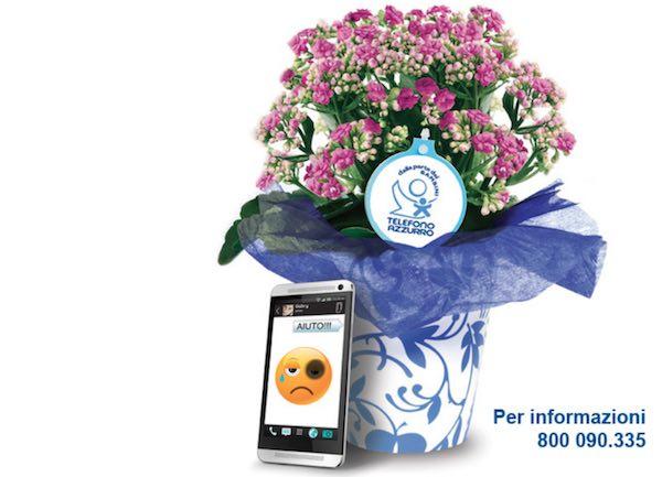 """""""Fiori d'Azzurro"""" in piazza. Rotaract Club sostiene Telefono Azzurro"""