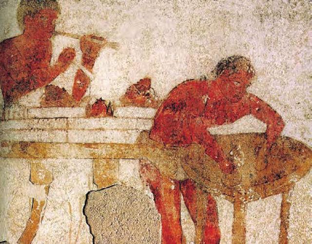 Nello scavo della piramide di via Ripa Medici ritrovato il cibo degli Etruschi